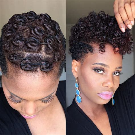 pin curls for black women pin curls on tapered natural hair pin curls natural and