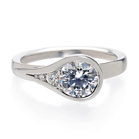 bezel set ring wedding ideas and wedding