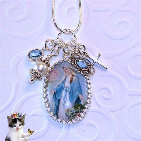 religious jewelry madonna religious necklace