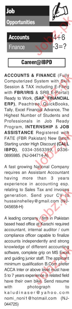Mba After Acca In Pakistan by Accountant In Karachi 2017 2018 Pakistan