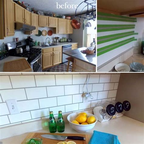 cheap diy kitchen ideas 24 cheap diy kitchen backsplash ideas and tutorials you
