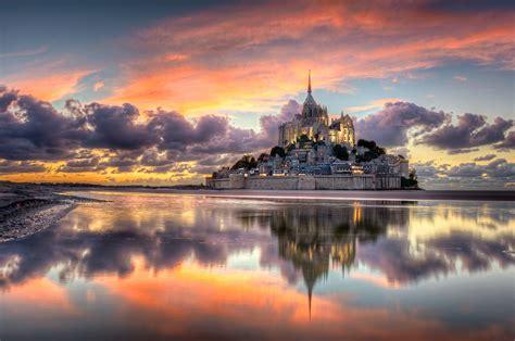 tapete frankreich normandie die stadt mont saint michel