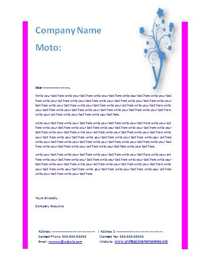 business letter template free free business letterhead template word templates
