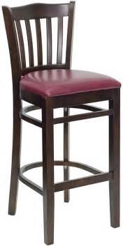 vertical slat wood bar stool for sale restaurant barstools hercules walnut finished vertical slat back wooden