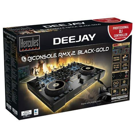 hercules dj console rmx2 hercules dj console rmx2 dj controller black gold ebay