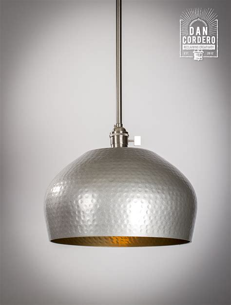 Brushed Nickel Pendant Light Fixtures Hammered Gold Brushed Nickel Edison Bulb Pendant Light