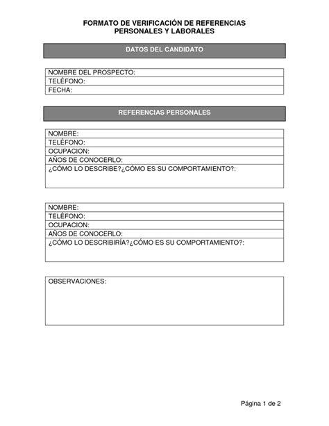 formato referencias personales newhairstylesformen2014 com referencias personales formatos formato referencias