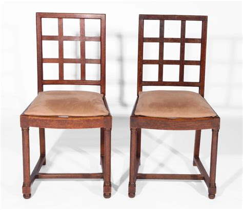 Heals Dining Chairs A Set Of Six Heals Oak Tilden Dining Chairs With Lattice Backs And Drop In Seats On Turned Front