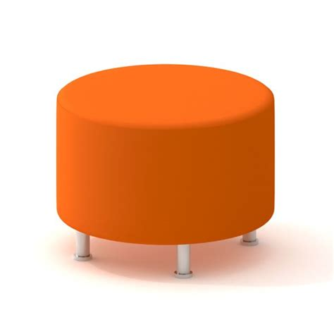 Orange Alight Round Ottoman Home Decor Pinterest Orange Ottomans
