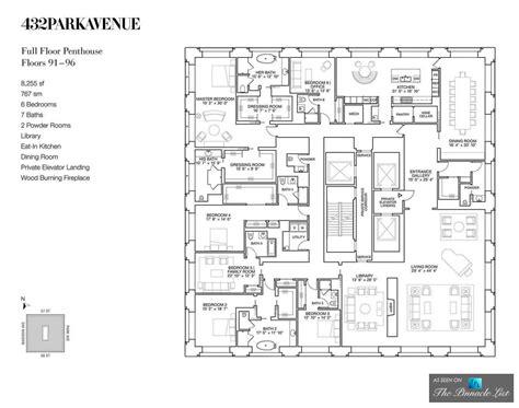 Beautiful 5 Bedroom Luxury House Plans #4: 27-Floorplan-79-Million-Luxury-Penthouse-PH92-432-Park-Avenue-New-York-NY.jpg
