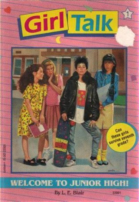 talk the edition books welcome to junior high talk 1 by l e blair