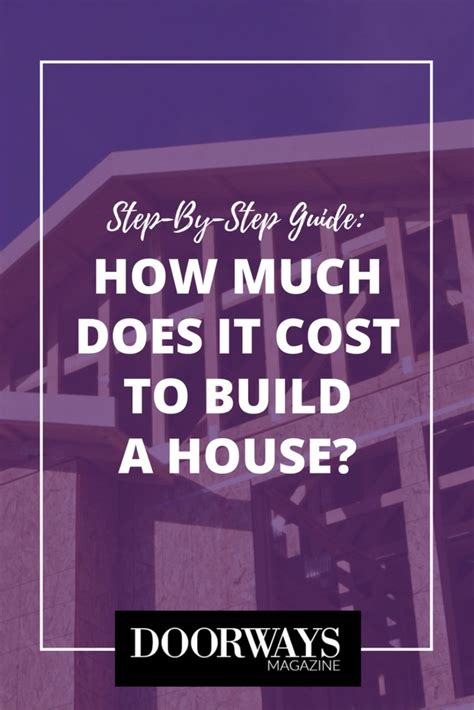 how much does it cost to build a house how much does it cost to build a house doorways magazine