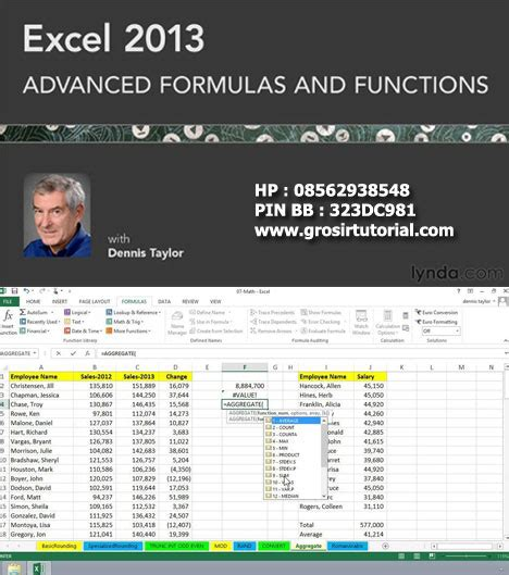 excel 2013 tutorial for accounting excel 2013 advanced formulas and functions lynda