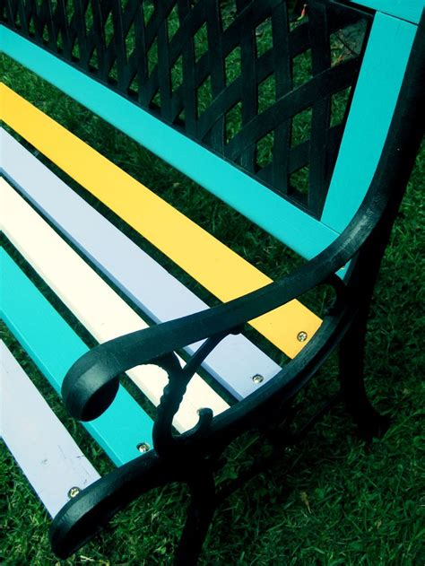colored benches 17 best ideas about painted benches on pinterest benches