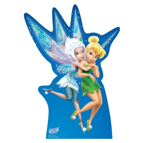 disney fairies tinkerbell and periwinkle secret of the wings periwinkle and tinkerbell standup