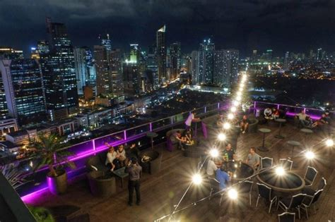 cool rooftop bars  sky lounges  manila   evening