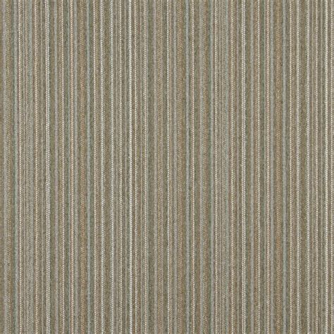 rustic upholstery fabric light brown green and ivory striped country tweed