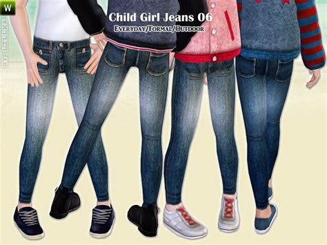 child sims 3 jeans lillka s child girl jeans 06