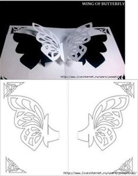 flying butterfly card template template for cards paper craft and paper toys