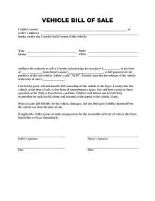 Trade Bill Of Sale Template by Free Printable Auto Bill Of Sale Form Generic
