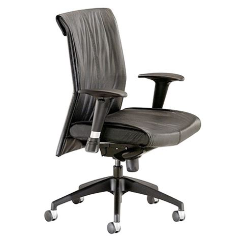 Leather Task Chair by Touch Series Midback Synchro Leather Task Chair