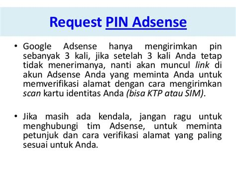 adsense request new pin mengatasi pin google adsense