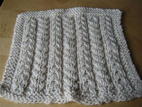 cable knit dishcloth pattern easy knitting patterns for beginners crochet and knit