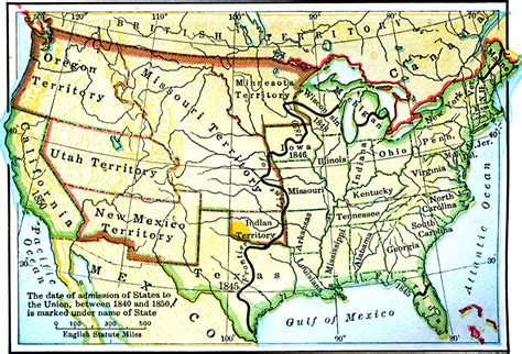 map of the united states in 1850 the united states