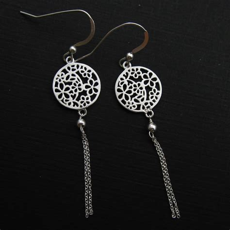 925 Sterling Silver Earrings 925 sterling silver earrings flower connector