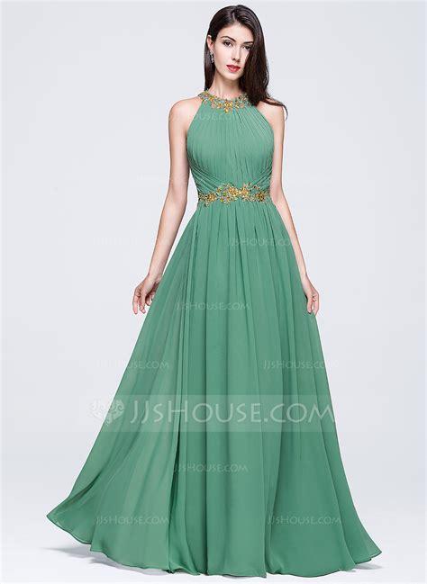 a line princess prom dresses a line princess scoop neck floor length chiffon prom dress