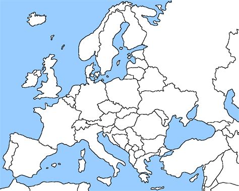 Europe 1500 Outline Map by Europe Blank Map