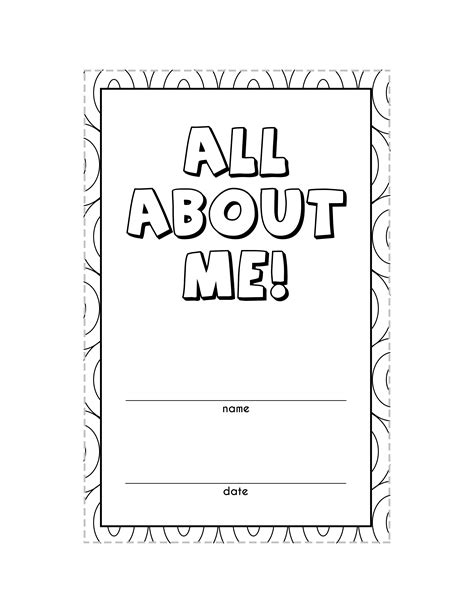 4 best images of a book about me printable all about me