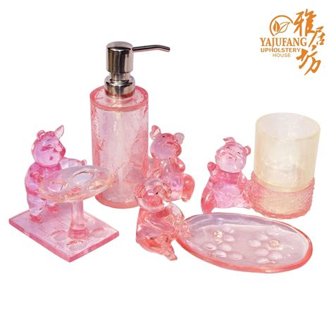 pink bathroom accessories pink bath accessories sets beautiful pink decoration