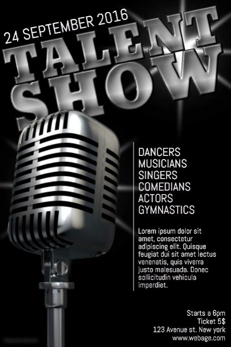 Talent Show Poster Flyer Template Postermywall Free Printable Talent Show Flyer Template