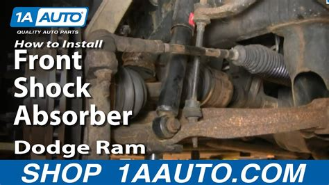 install repair replace front shock absorbers dodge