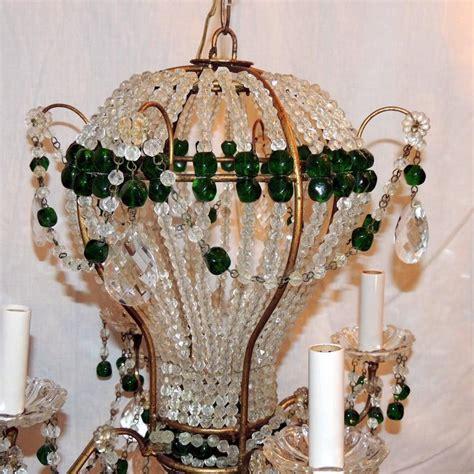 Green Beaded Chandelier Wonderful Pair Emerald Green Beaded Air Balloon Chandelier Fixtures For Sale At 1stdibs
