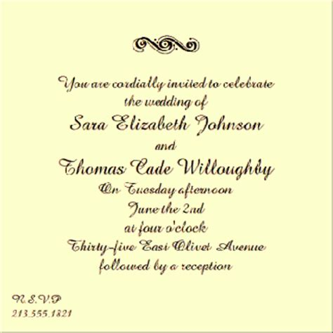 wedding invitation message from groom wedding invitation wording from and groom template best template collection