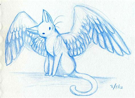 cute anime cat with wings drawings wing cat 2 by om nom nomnivore on deviantart