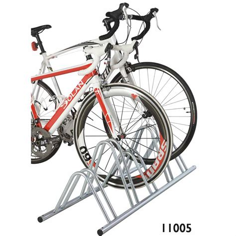 Dual Bike Rack by Dual Height Bike Cycle Floor Mounted Cycle Rack Stand