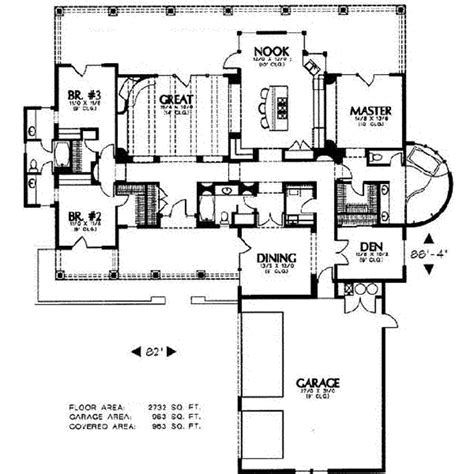southwestern floor plans adobe southwestern style house plan 3 beds 3 baths