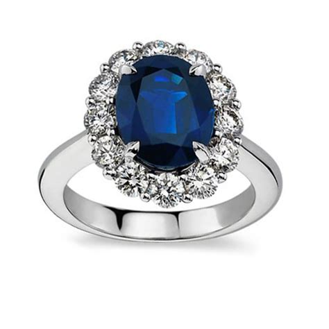 7 28 ct oval shape sapphire and engagement ring