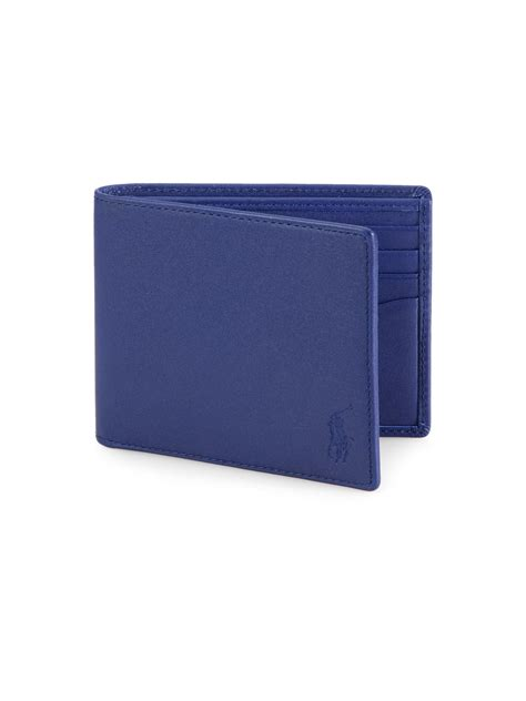 Polo Wallet For polo ralph leather billfold wallet in blue for lyst