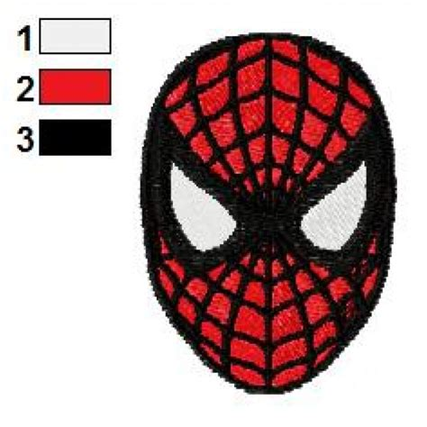spiderman embroidery pattern spiderman face embroidery design 04