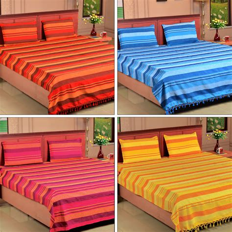 Handmade Bedsheets - buy set of 4 handmade kerala bedsheets at best