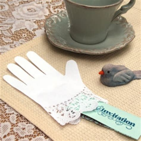 How To Make Paper Gloves - lacy paper glove invitations disney family