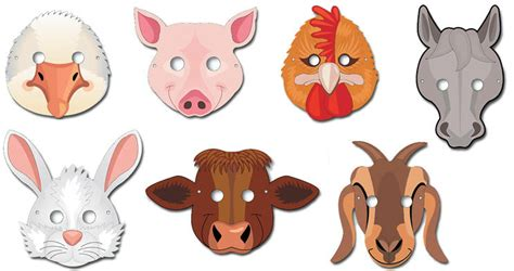 farm animal mask templates farm animal masks templates pictures to pin on