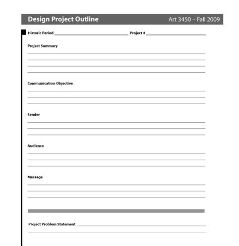 Design Project Brief Template Big D Larry Design Brief Template