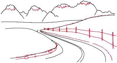 super simpel menggambar alam pegunungan tutorial menggambar