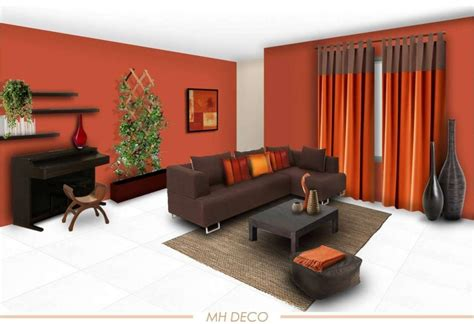 Orange Colour Combination Living Room by Drawing Room Wall Orange Colours Combinations Wall Color