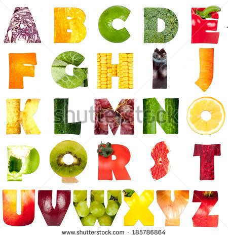 vegetables 3 letters food alphabet stock photos images pictures